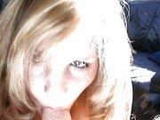 Blonde Schlampe dreht ihren ersten Porno